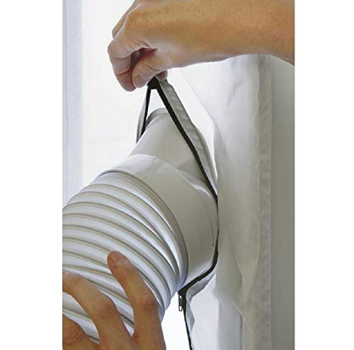 Boddenly Window Seal for AC Unit, Window Seal for Portable Air Conditioner, Sealing AC with Zip and Adhesive Fastener, Best Way to Seal Tilted Window, Works with Every Mobile Air-Conditioning Unit