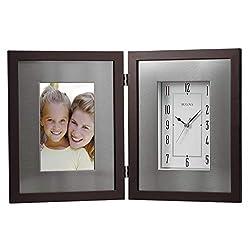 Bulova B1234 Winfield Picture Frame Clock, Espresso Brown