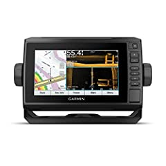 """Bright, Sunlight-readable 7"""" touchscreen with keyed assist Includes GT54 transducer for ultra High-Definition clearer and Ultra High-Definition SideVü scanning sonars and Garmin high wide CHIRP traditional sonar Preloaded LakeVü G3 inland maps with i..."""