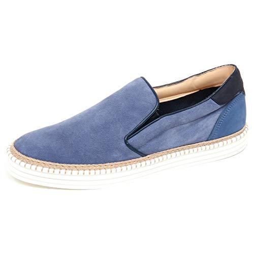 Hogan F6110 Sneaker Uomo Light Blue R260 Scarpe Slip on Shoe Man [10]