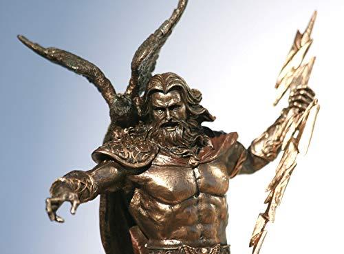 Figura decorativa con acabado de bronce, diseño de Dios Zeu