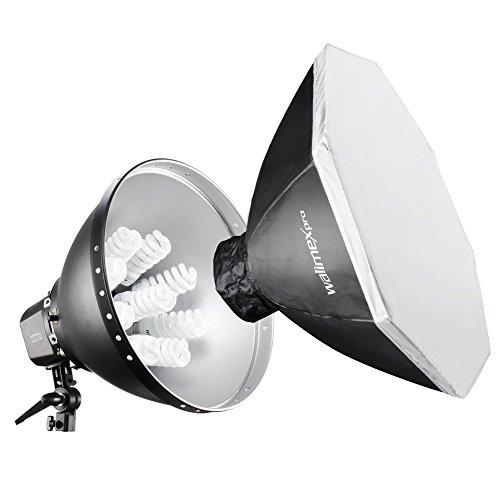 Walimex Pro Daylight 1260 mit Softbox Ø 80 cm (Lampen zu- und abschaltbar, Farbtemperatur ca. 5400K)