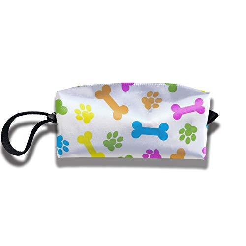 Bbhappiness Pouch Handbag Cosmetics Bag Case Purse Travel & Home Portable Make-up Receive Bag Bones Pattern