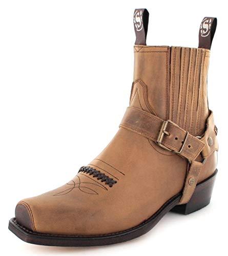 Sendra Boots 6445 - Stivaletti da motociclista, unisex, Marrone (Tang), 36 EU