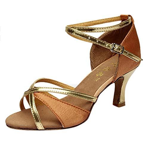 Oceninok Sandalias Mujer Verano 2019 Baile De Moda para Mujer Rumba Waltz Prom Ballroom Salsa Latina Bailarinas Zapatos