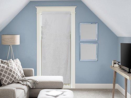 Soleil d'ocre Panama Voile pour Porte Fenêtre en Coton 70x200 cm Panama Coton Gris