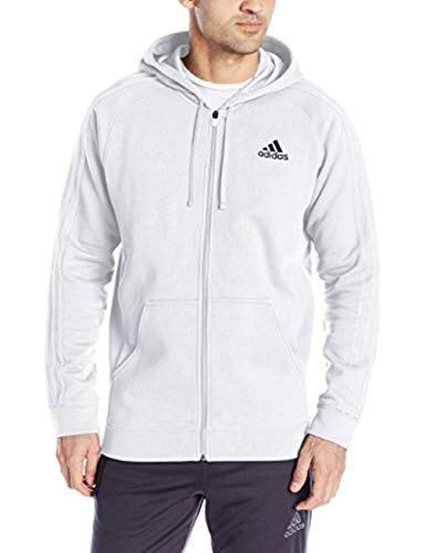 adidas Herren Essentials Fleece Full Zip Hoodie, Herren, weiß, XX-Large