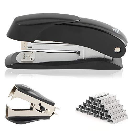 madeking Effortless Desktop Stapler with Staples ,The Small staplers Office Have 25 Sheet Capacity, Easy to Load Ergonomic Mini staplers for Desk, Includes 1000 Staples and Staple Remover