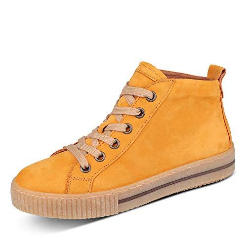 Gabor Damen Sneaker, Frauen Sneaker high,Wechselfußbett,Best Fitting, schnür-Stiefelette schnürschuh mid-Cut,Herbst,37 EU / 4 UK
