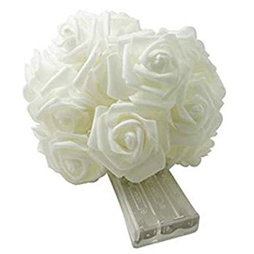 Luces LED de cadena de flores de rosas románticas, luces de hadas con pilas para exteriores, decoración de jardín, luces de paisaje, para festival, boda, día de San Valentín, fiesta