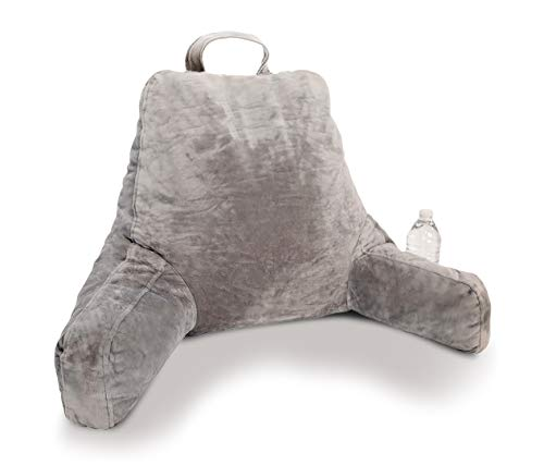 Soothing Company Husband Pillow With Cup Holder And Shredded Memory Foam, Backrest Pillow with Arm Pockets for Sitting Up in...