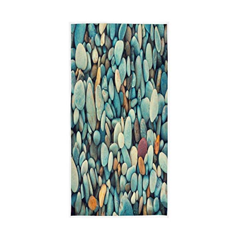 Bert-Collins Towel Rock On The Beach Toalla de Playa Toallas de Lujo Ultra Suaves para baño 80x130cm