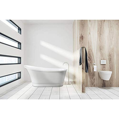 Picture of a Freestanding White Bathtub that is High at one end