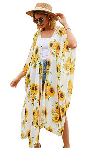 Hibluco Women's Floral Kimono