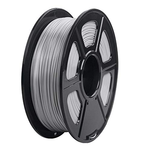 Camisin 3D Printer Filament 1.75mm Dimensional Accuracy +/-0.02mm 1KG 343M 2.2LBS 3D Printing Material For RepRap(Grey)