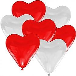 100 Herzballons Luftballons Helium Luftballons Ballongas