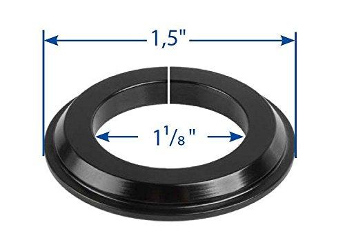 RIDEWILL BIKE &apos Adaptador Pista Serie Dirección Cónico 1,5'a 1 – 1/8' Negro (Rodillos Serie Dirección)/Tapered Headset Fork Cone Adapter 1,5'to 1 – 1/8 Black (Headset Spare Parts) …