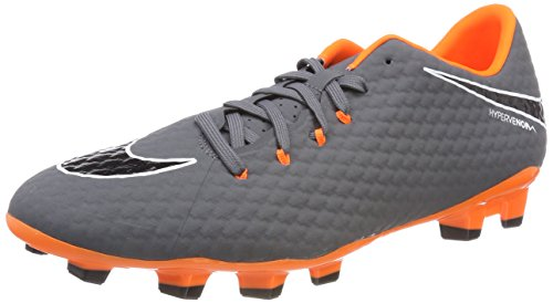 Nike Herren Hypervenom Phantom 3 Academy FG Fitnessschuhe, Mehrfarbig (Dark Grey/Total Oran 081), 42.5 EU