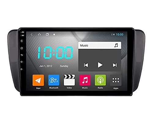 YIJIAREN Radio GPS Navegación para Seat Ibiza 2009-2014, Pantalla táctil 2.5D Android 10.0 Coche Estéreo Sat Nav Soporte de Control del Volante BT Mirror-Link 4G WiFi