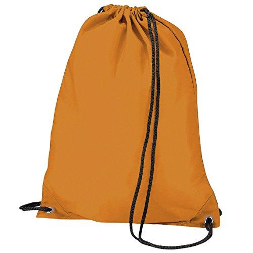 BagBase Turnbeutel/Sportbeutel, wasserabweisend, 11 Liter (Einheitsgröße) (Orange)