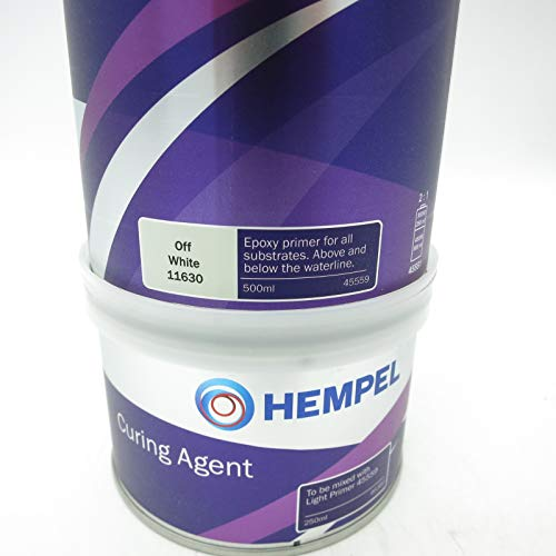 Hempel Light Primer color blanco 11630 / 750 mL / de alta calidad con dos componentes para zonas por encima y por debajo d