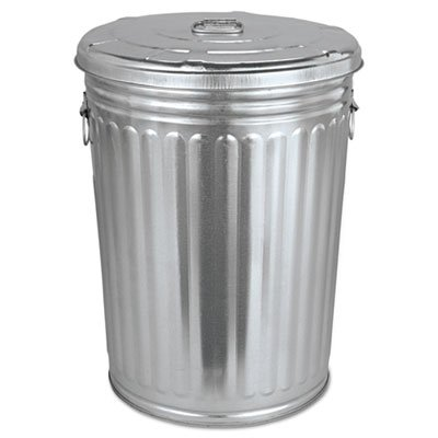 tin garbage can with lid - 1