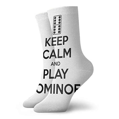 Chongha Unisex lood rustig en spelen Domino sportkousen lange sokken sport outdoor voor mannen vrouwen