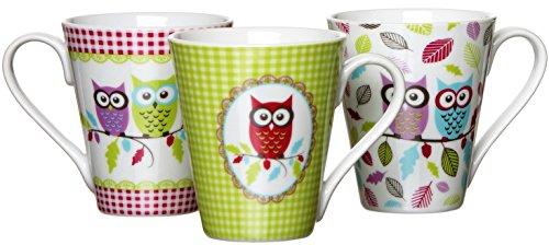 Ritzenhoff & Breker Kaffeebecher-Set Eule Rita, 3-teilig