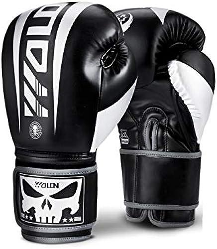 Gants de boxe généraux Sanda formation gants professionnels Muay Thai Combat Sandsacs Gants Gants de travail (Couleur   noir, Taille   8oz)