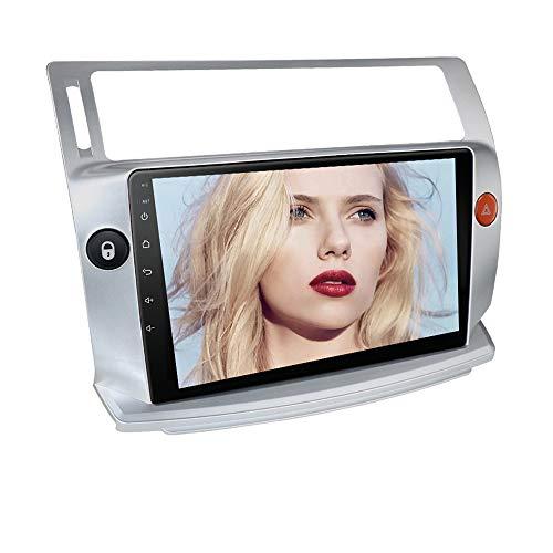 Ossuret Car Stereo con Pantalla táctil de 9 Pulgadas Apta para Citroen C4 / C-Tiromphe/C-Quatre 2004-2009, Android 10 Car Radio FM Soporte de navegación GPS Control del Volante