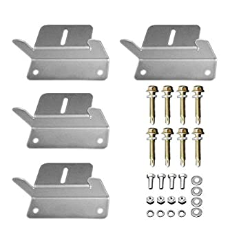 HQST Solar Panel Mounting Z Brackets with Nuts and Bolts - 4 Sets of RV Boat Roof Wall and Other Off Gird Installation Compatible with Most Brand Renogy Richsolar Newpowa