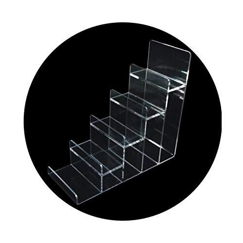 LM-Coat rack XINGLL Acrílico Vitrina Transparente, Escalones Transparentes, Soporte Organizador para Figuras Modelos Joyería Muñecas Manualidades Estantería Juguetes, Soporte Almacenamiento