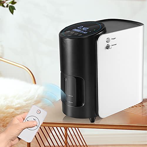 Vogvigo Concentratore di Ossigeno OXY-Relief 1-7L/min,Portatile 93% Alta Purezza Domestici Macchina di Ossigeno Uso Casa Viaggio Auto - 220 V (non alimentato a batteria) (Blu)