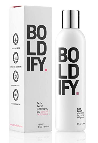 BOLDIFY Hair Thickening Shampoo - Natural Anti Hair Loss Complex Instantly Stimulates Thicker, Fuller Hair - Cruelty & Sulfate Free Biotin Shampoo for Hair Growth Shampoo - 8oz