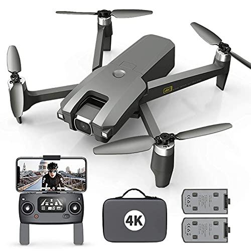 J-Clock Drone con Fotocamera per Adulti 4K Full HD FPV Live Video 120deg;Grandangolo, Mantenimento dell'altitudine, modalità Senza Testa, Selfie con gesti, funzioni waypoint con 2 batterie e Zaino