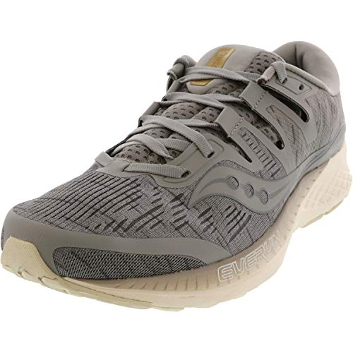 Saucony Mens Ride ISO Fabric Low Top Lace Up Running, Grey Shade, Size 8.