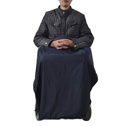 Cubierta Cálida para Silla De Ruedas De Longitud Media, Manta Cálida a Prueba De Viento, Manta para Asiento De Anciano con Bolsillos para Los Pies, Fácil De Usar Y Limpiar