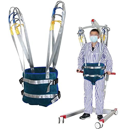 Cinturón de marcha médico, cabestrillo de pierna dividido, equipo de elevación médico cabestrillo de elevación de pacientes Cinturón de transferencia para caminar para bariátrico, enfermería, cuidador