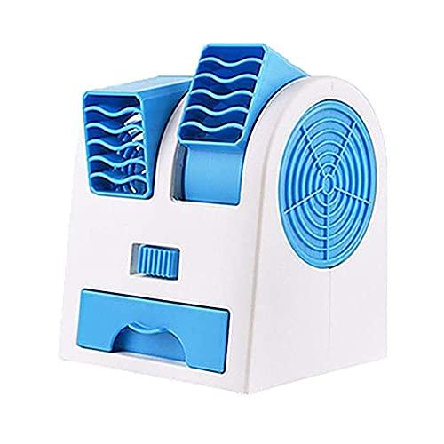WHkeji Nuevo Mini ventilador de doble puerto sin pagina enfriamiento silencioso fragancia pequeño ventilador portátil USB escritorio pequeño ventilador circulador de aire ventilador personal