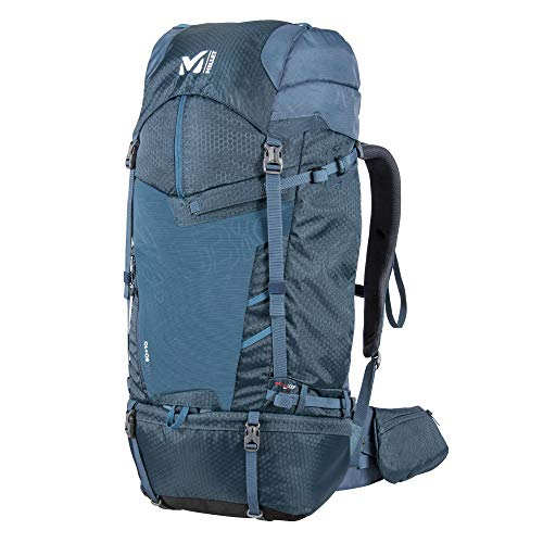 Millet - Ubic 50+10 - Backpack for Men and Women - Hiking, Ski Touring and Trekking - Expandable Volume 50+10 Litre- Orion Blue/Emerald