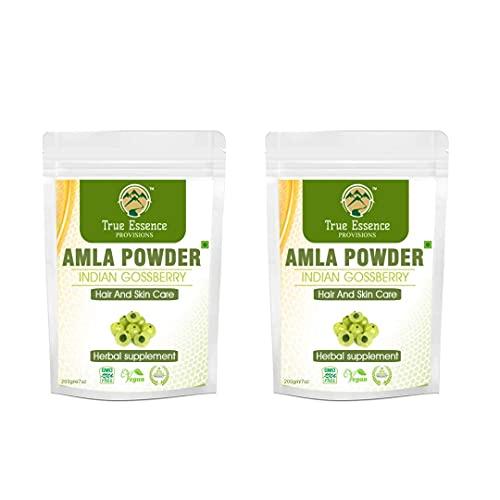 Trisha Heera Ayurvedic Research Foundation Amla Powder 400Gm (Pack of 2)|Indian Gooseberry Powder for Hair and Skin Care