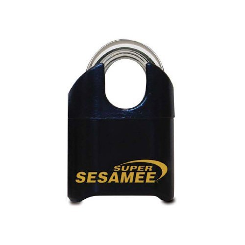 Sesamee K646 4 Dial Bottom Resettable Combination Brass Padlock with 1-Inch Shackle and 10,000 Potential Combinations