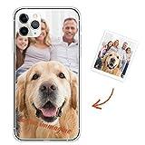 Oihxse Personalizzata Custodia Compatibile per iPhone 7 Plus / 8 Plus Iniziali Immagine Stampa Cover, Personalizzato Foto Testo Design Custom Trasparente TPU Silicone Protettivo Case