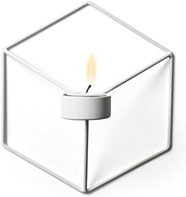 【PECHEオリジナルインテリア】アイアンフレーム キャンドルホルダー モダン インテリア 六角形 ヘキサゴン 立体3D ホワイト 白 アンティーク 壁掛け