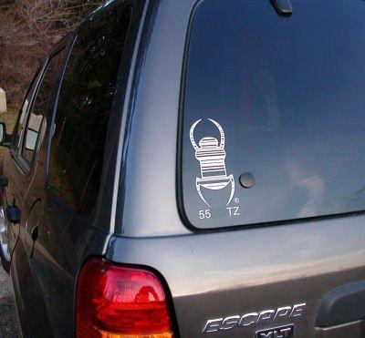 geo-versand Travel Tag® Trackable Geocaching statischer Autoaufkleber Groundspeak® Sticker, Car Sticker, Aufkleber fürs Auto Geocaching Logo