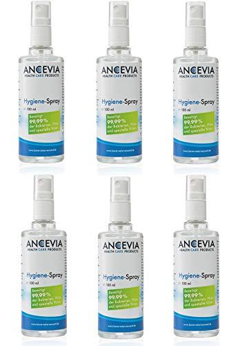6 x 100ml ANCEVIA® CDL Chlordioxid Spray Set in Glasflasche - 18 Monate Haltbar - CDS Sprühflasche - Unterwegs