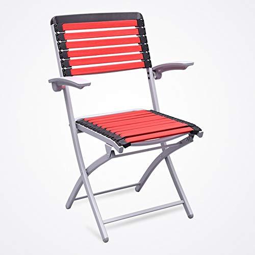 Chaise Fauteuil Siège Chaises Chair Épissure Bande De Massage Tissage Dissipation De Chaleur Respirante Tingting (Couleur : Red, Taille : 48 * 47 * 89cm)