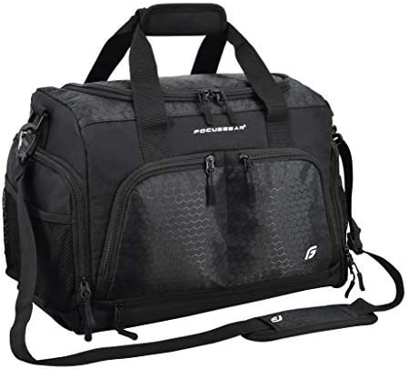 BuyAgain All Purpose Lightweight Sports Duffel//Duffle Gym Bag with Shoe Tunnel Compartment 600D Polyester Color Back. Sport Bag