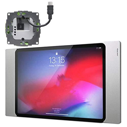 sDock Fix s33 - Juego de Fuente de alimentación para iPad Pro de 11 Pulgadas (USB-C y USB-C), Color Plateado