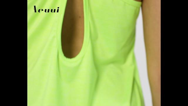 Aeuui Womens Workout Tops Cute Gym Clothes Running Yoga Shirts
